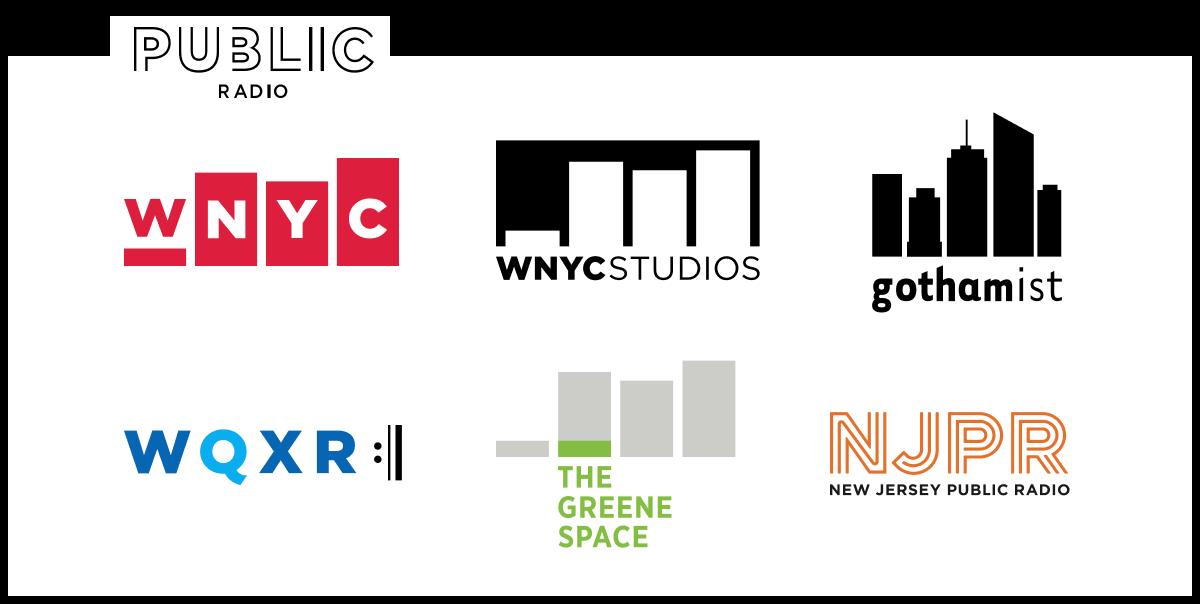 New York Public Radio: WNYC, WNYC Studios, WQXR, Gothamist, The Greene Space, New Jersey Public Radio